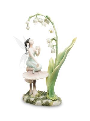 Статуэтка Фея и ландыши Veronese. Цвет: белый, зеленый