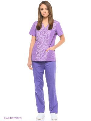 Блузка медицинская Med Fashion Lab. Цвет: сиреневый