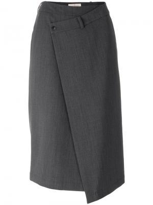Асимметричная А-образная юбка A.F.Vandevorst. Цвет: серый