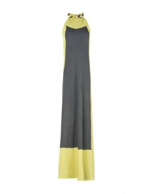 Длинное платье JO NO FUI. Цвет: серый