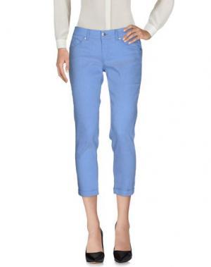 Повседневные брюки BREBIS NOIR. Цвет: пастельно-синий