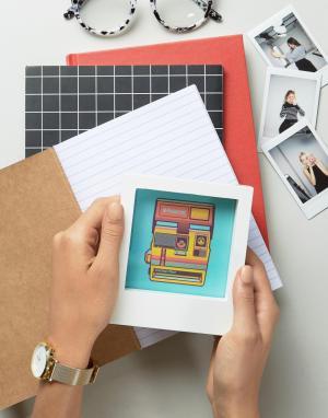 Polaroid Фоторамка 4x4. Цвет: белый