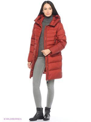 Пальто Snow Guard. Цвет: красный
