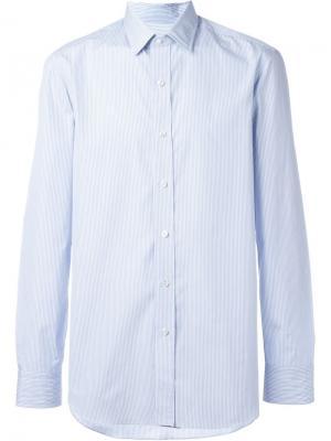 Рубашка в полоску Salvatore Piccolo. Цвет: синий
