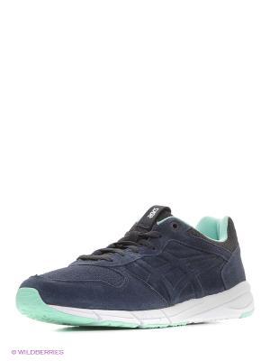 Спортивная обувь SHAW RUNNER ASICSTIGER. Цвет: темно-синий, бирюзовый