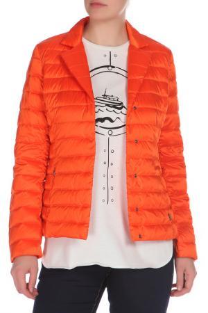 Полуприлегающая куртка с застежкой на кнопки Max Mara Weekend. Цвет: оранжевый