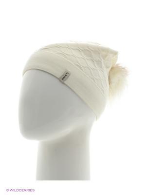 Биатрис Беркле шапка женская с помпоном Berkle. Цвет: молочный
