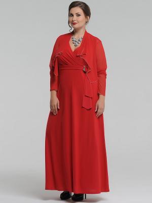 Болеро Lina. Цвет: красный