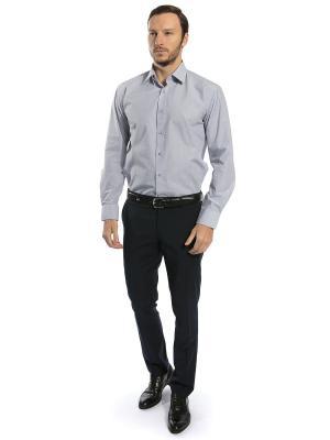Рубашка GroStyle. Цвет: серый, белый