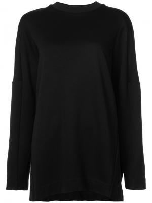 Embellished sleeve oversized sweater Y-3. Цвет: чёрный