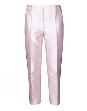 Шелковые брюки с лампасами Tzipporah. Цвет: розовый, красный