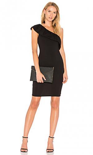 Платье с одним плечом felicity LA Made. Цвет: черный