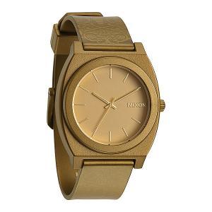Часы  Time Teller P Metallic Gold/Beetlepoint Nixon. Цвет: бежевый,коричневый