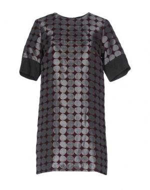 Короткое платье SONIA DE NISCO. Цвет: свинцово-серый