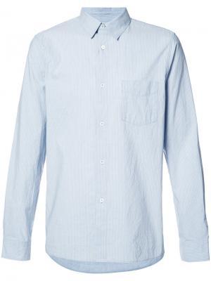 Рубашка с нагрудным карманом A.P.C.. Цвет: синий