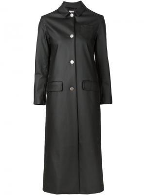 Длинное однобортное пальто Arthur Arbesser. Цвет: чёрный