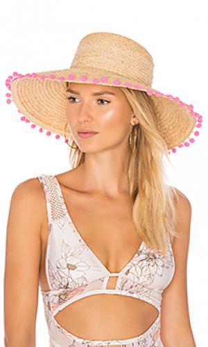 Плетеная шляпа из рафии Hat Attack. Цвет: цвет загара