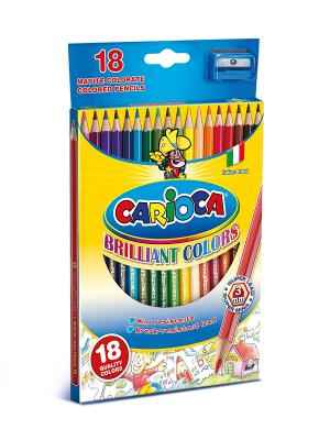 Набор карандашей цветных CARIOCA 18 цв.+ точилка Universal. Цвет: синий