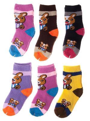 Набор носочков Pretty Mania. Цвет: сиреневый, фиолетовый, желтый, черный, коричневый