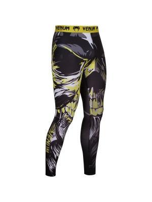 Компрессионные штаны Venum Viking Black. Цвет: желтый, черный