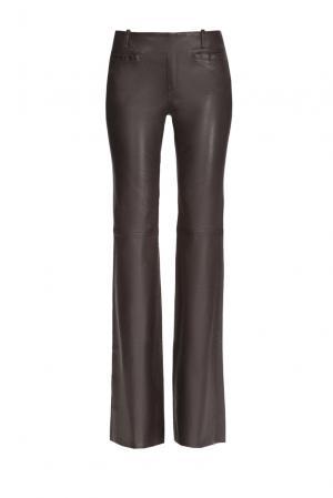 Кожаные брюки 160426 Jitrois. Цвет: коричневый