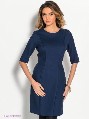 Платье ZENDRA. Цвет: темно-синий