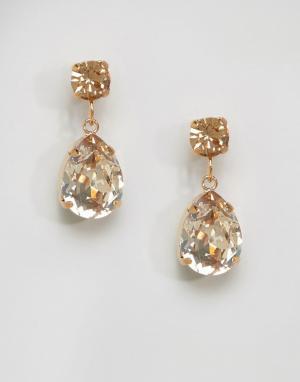 Krystal Серьги-подвески с кристаллами Swarovski. Цвет: золотой