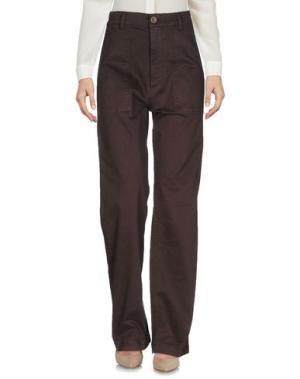 Повседневные брюки VINTAGE 55. Цвет: темно-коричневый