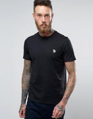 PS by Paul Smith Черная футболка узкого кроя с логотипом Zebra. Цвет: черный