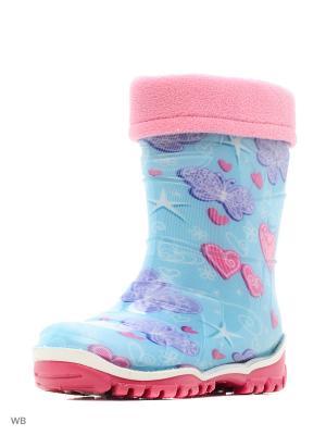 Резиновые сапоги Дюна. Цвет: светло-голубой, розовый, фиолетовый
