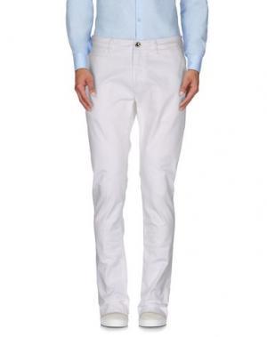 Повседневные брюки FRADI. Цвет: белый