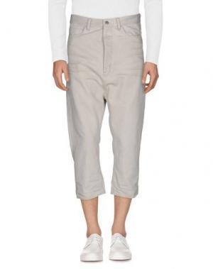 Джинсовые брюки-капри RING. Цвет: светло-серый