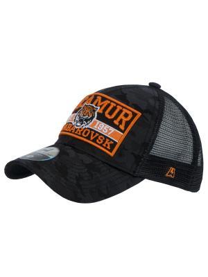 Бейсболка КХЛ ХК Амур Atributika & Club. Цвет: черный, оранжевый, темно-синий