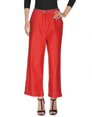 Джинсовые брюки GIORGIO GRATI. Цвет: красный