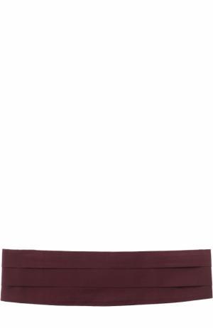 Шелковый камербанд Canali. Цвет: бордовый