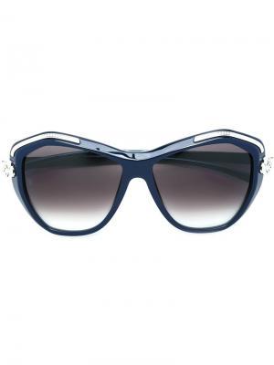 Солнцезащитные очки Panthère Wild Cartier. Цвет: синий