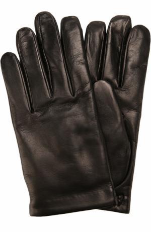 Кожаные перчатки с кашемировой подкладкой Brioni. Цвет: черный