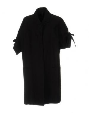 Легкое пальто SARA LANZI. Цвет: черный