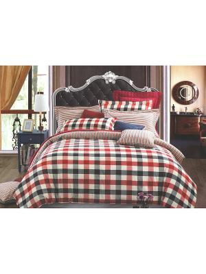 Комплект постельного белья, Евро Sofi de Marko. Цвет: синий, красный, белый