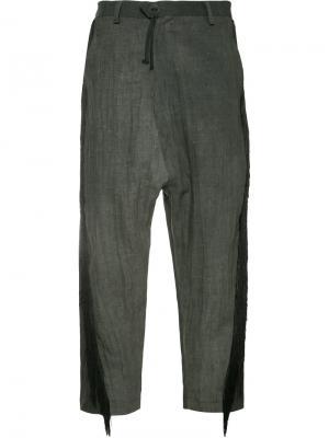 Укороченные брюки с бахромой Area Di Barbara Bologna. Цвет: серый