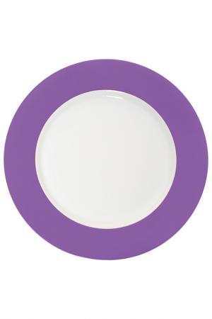 Набор из 6ти тарелок 20X20 EXCELSA. Цвет: фиолетовый