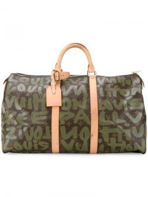 Дорожная сумка Keepall 50 Louis Vuitton Vintage. Цвет: зелёный