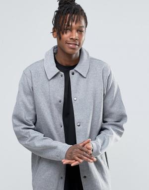 Dickies Трикотажная рубашка навыпуск. Цвет: серый