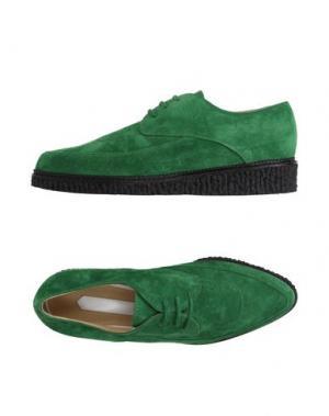Обувь на шнурках OFF WHITE c/o VIRGIL ABLOH. Цвет: изумрудно-зеленый