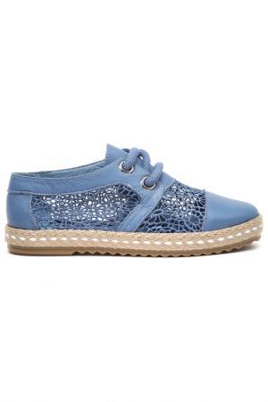 Туфли летние Sandm. Цвет: голубой