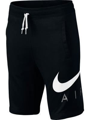 Шорты B NK AIR SHORT FT Nike. Цвет: черный, белый