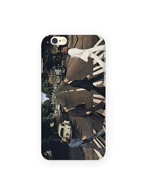 Чехол для IPhone 6 Beatles Mitya Veselkov. Цвет: черный, белый