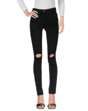 Джинсовые брюки ELISABETTA FRANCHI JEANS. Цвет: черный
