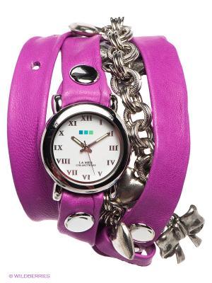 Часы La Mer Collections. Цвет: сиреневый, серебристый