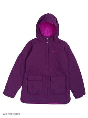 Куртки Columbia. Цвет: фиолетовый
